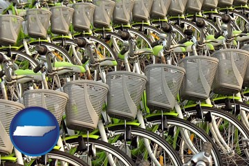 bicycles for rent - with Tennessee icon