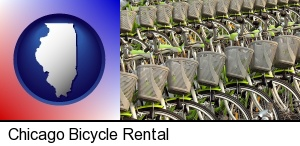 bicycles for rent in Chicago, IL