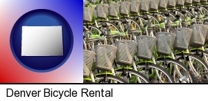 bicycles for rent in Denver, CO
