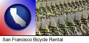 bicycles for rent in San Francisco, CA
